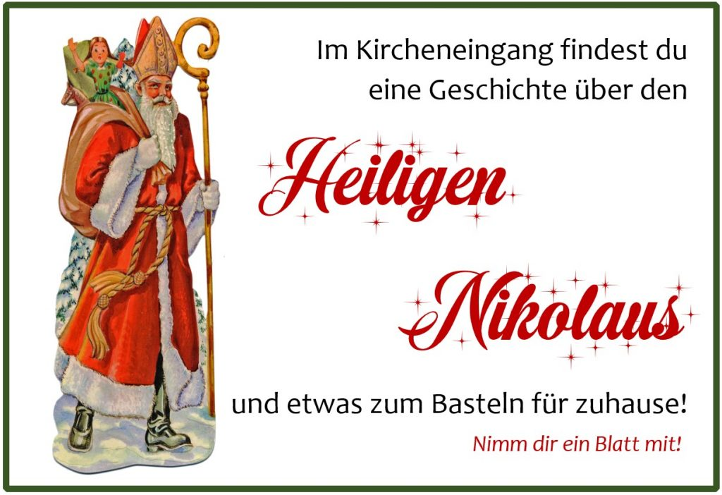 Heiliger Nikolaus Geschichte Basteln